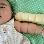赤ちゃんの腕が「ちぎりパン」になるのはなぜ?いつ頃?我が家の末っ子君はあまりならなかった思い出